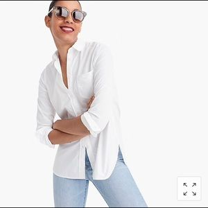 J. Crew | Classic Boy-Fit Shirt in Cotton Poplin S